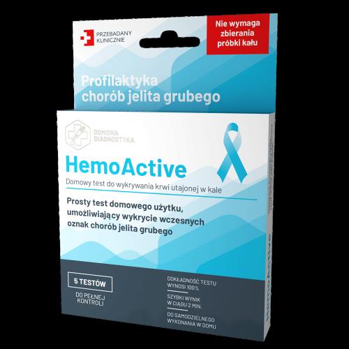 HemoActive - profilaktyka chorób jelita grubego Krwawienia z przewodu pokarmowego TEST HemoActive - Diagnosis