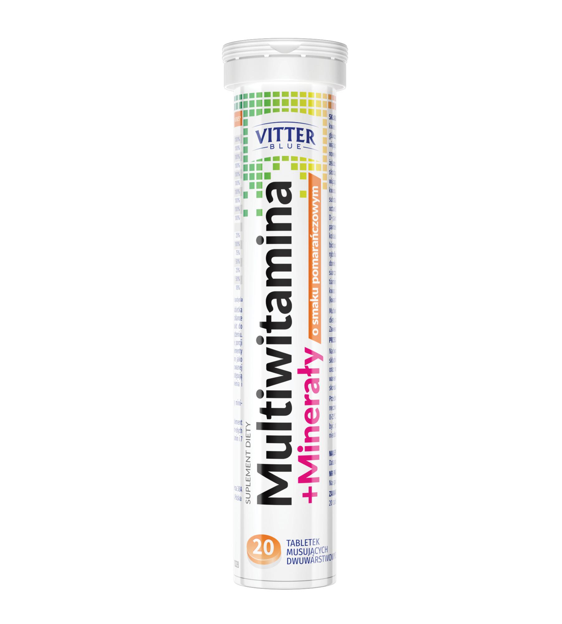 Suplement diety Multiwitamina + Minerały w tabletkach musujących - Vitter - tabletki