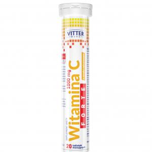 Suplement diety Witamina C Forte 1000 mg w tabletkach musujących - Vitter - tabletki