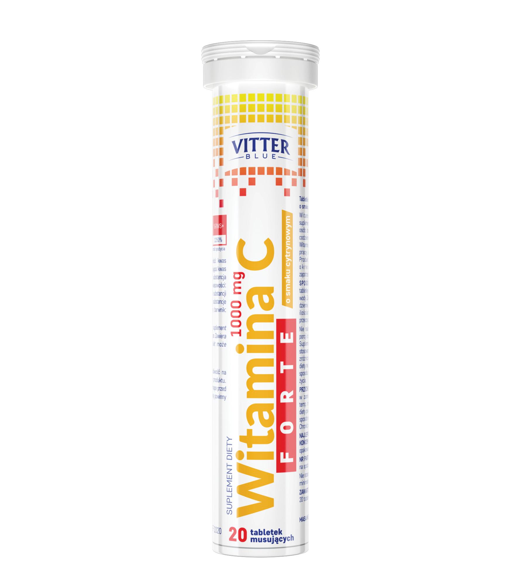Witamina C Forte 1000 mg w tabletkach musujących - Vitter - tabletki