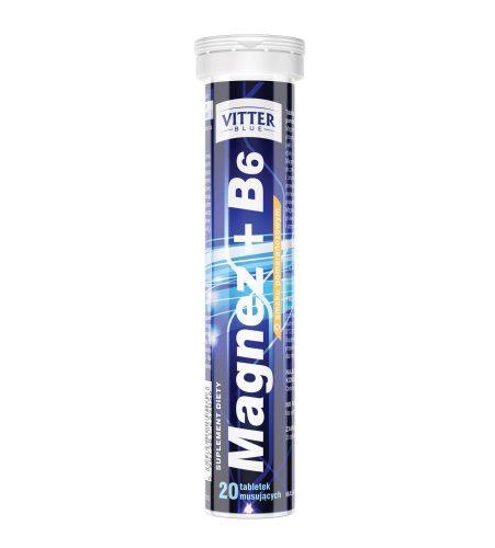 Magnez + B6 w tabletkach musujących Vitter Blue - tabletki musujące