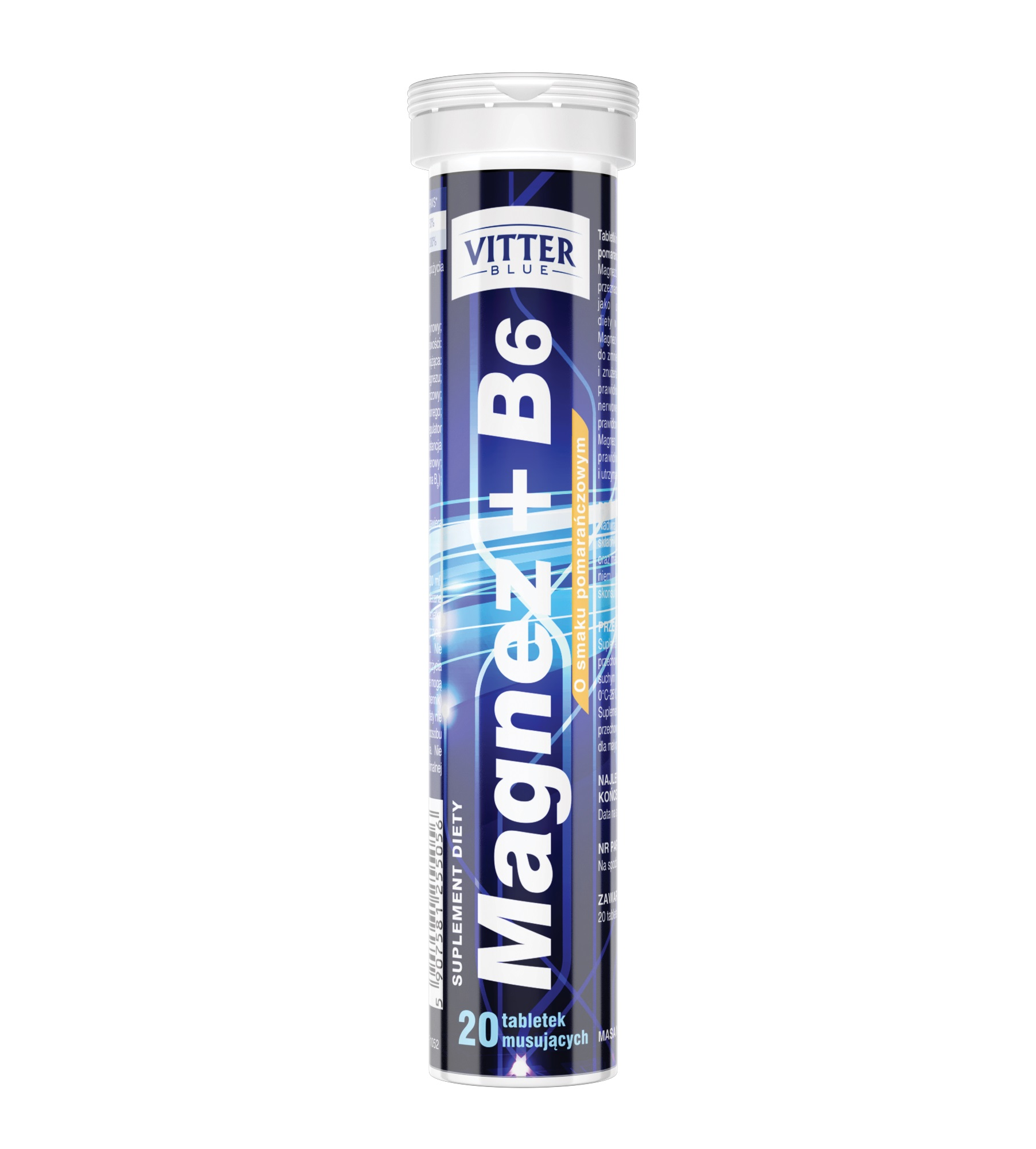 Suplement diety Magnez + B6 w tabletkach musujących Vitter Blue - tabletki musujące