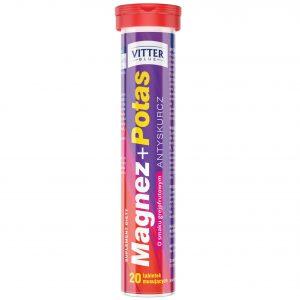 Suplement diety Magnez + Potas w tabletkach musujących Vitter Blue - tabletki musujące