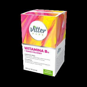 Suplement Diety - Witamina B12 + Kwas Foliowy - w proszku - Vitter