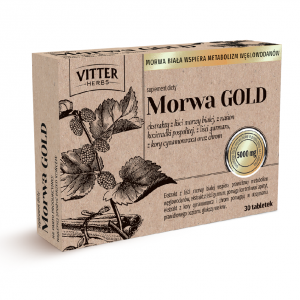 Suplement Diety - Morwa GOLD - Vitter Herbs - Ekstrakt z morwy białej