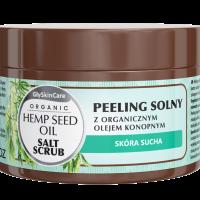 Peeling solny z organicznym olejem konopnym