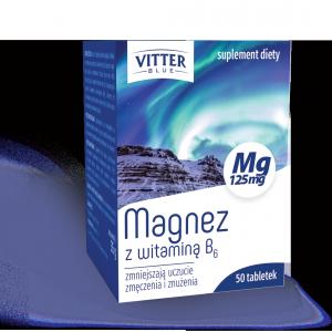Suplement Diety - Magnez z witaminą B6 Tabletki - Vitter Blue -