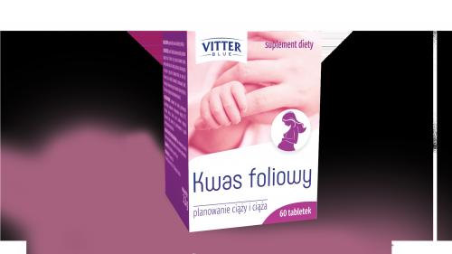 Suplement diety - Kwas Foliowy - Tabletki - Vitter -wspomaga