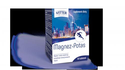 Suplement Diety - Magnez + Potas - Tabletki - Vitter - potas - magnez