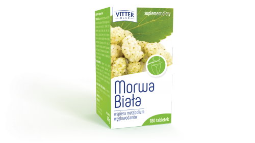 Suplement Diety - Morwa Biała - tabletki - wspiera metabolizm