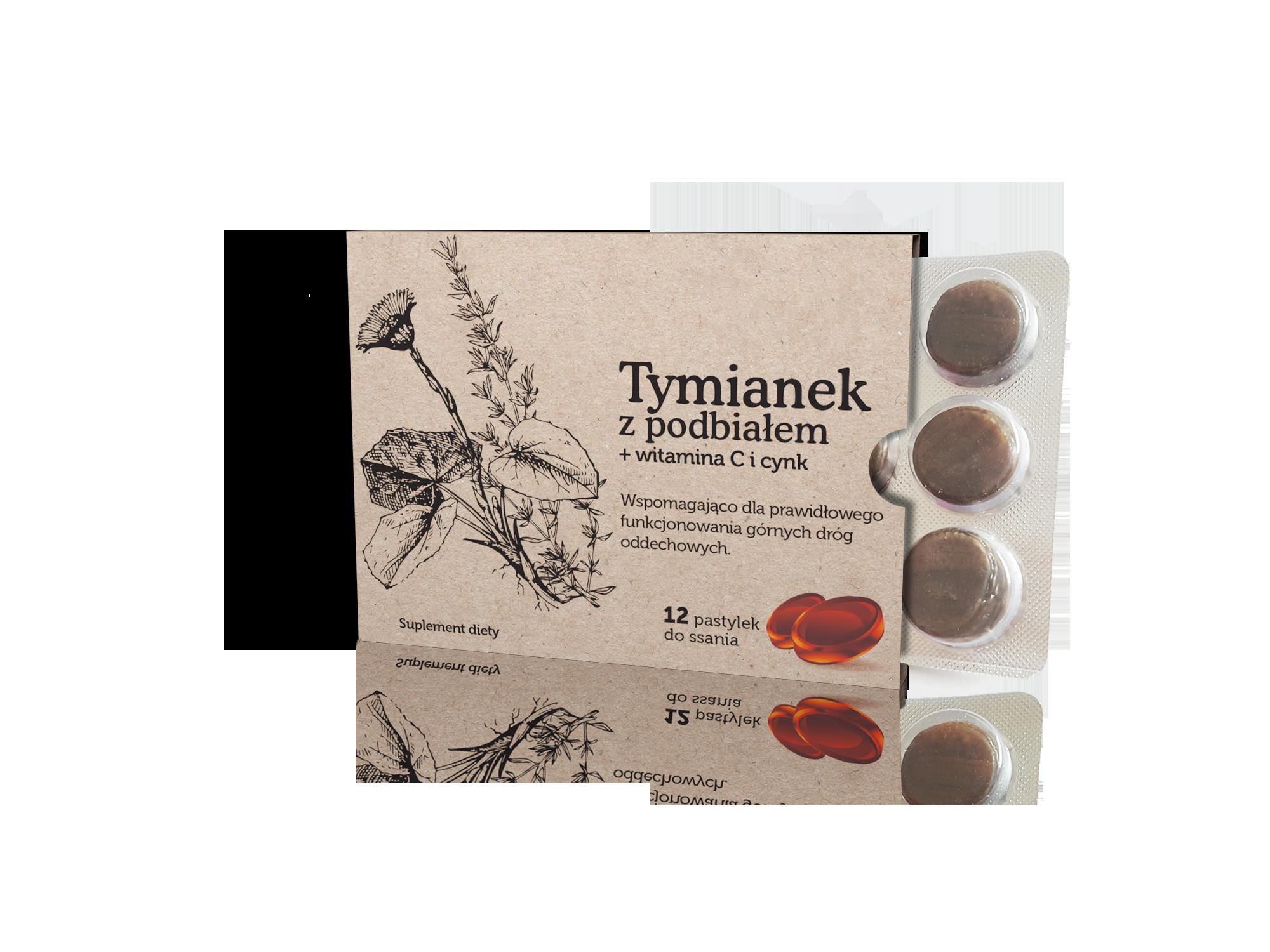 suplement diety Tymianek z podbiałem + witamina C i cynk