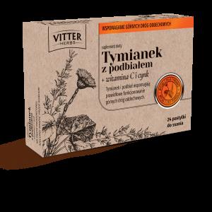 Suplement Diety - Tymianek z podbiałem + witamina C i cynk